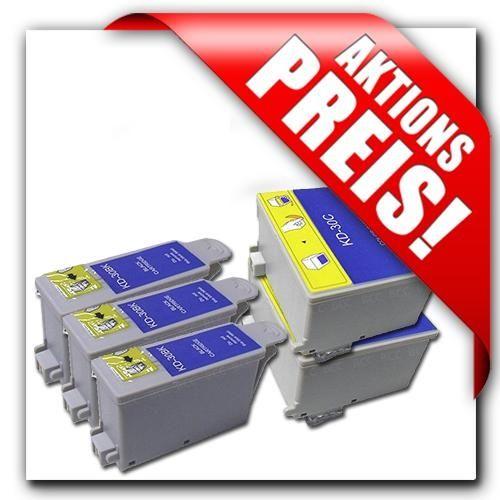 Aktion: 3 x Schwarz + 2 x Farbe für Kodak-Drucker, KS30