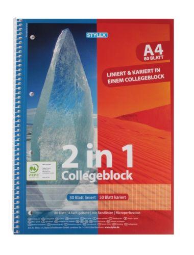 Collegeblock, DIN A4, Duo, 80 Blatt