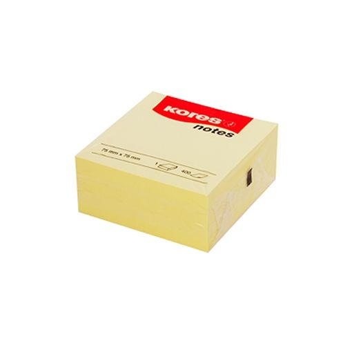 Haftnotizen 400 Stück, 75x75mm, gelb