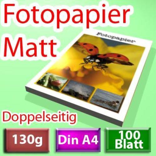 A3 Inkjet Papier 50 Blatt 2-seitig beschichtet 130g photo-matt