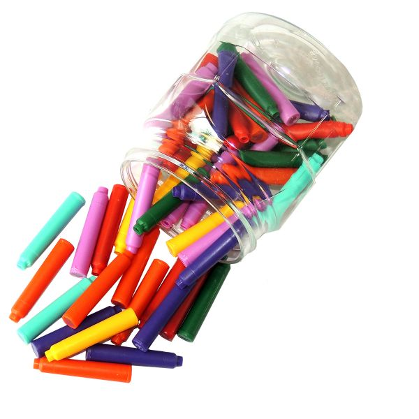 50 Tintenpatronen, farbig, in Kunstoffbox