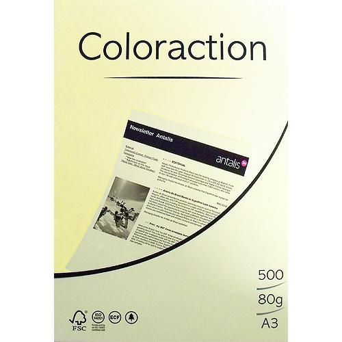 80g A3-Papier Gelb, 500 Blatt
