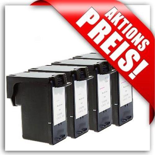 Aktuelles Sparset für Lexmark: 2 x schwarz + 2 x Farbe, LS43/44-