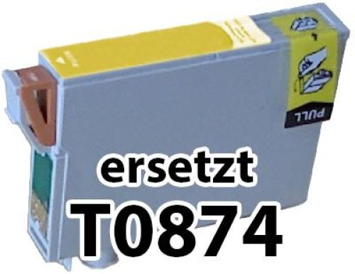 kompatible Druckerpatrone EKT0874 yellow (gelb)