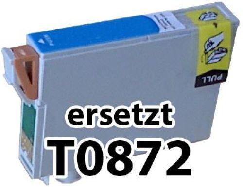 kompatible Druckerpatrone EKT0872 cyan (blau)
