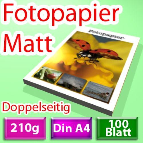 210g 2-seitig Foto-Papier, Inkjet Din A4, 100 Blatt