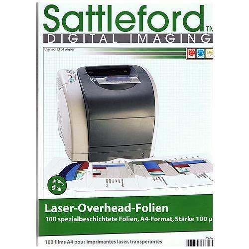 Overheadfolie f. Laser-Drucker, 100 Blatt