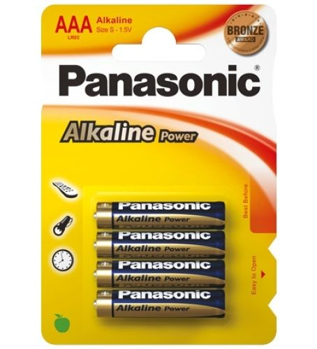 4 Micro-Batterien (AAA) Panasonic Alkaline