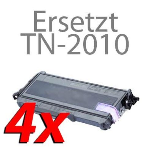 Toner-Sparset: 4 x BLT2010, Rebuild für Brother-Drucker