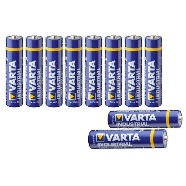 10 Micro-Batterien, Varta Industrial, AAA 1,5V