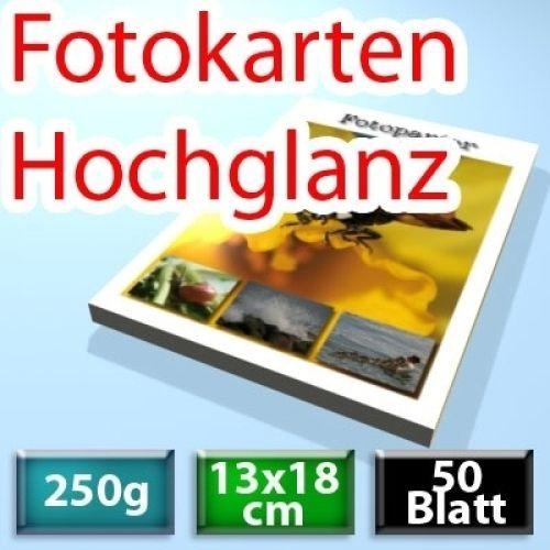 250g Hochglanz Foto-Karten 13*18cm, 50 Blatt